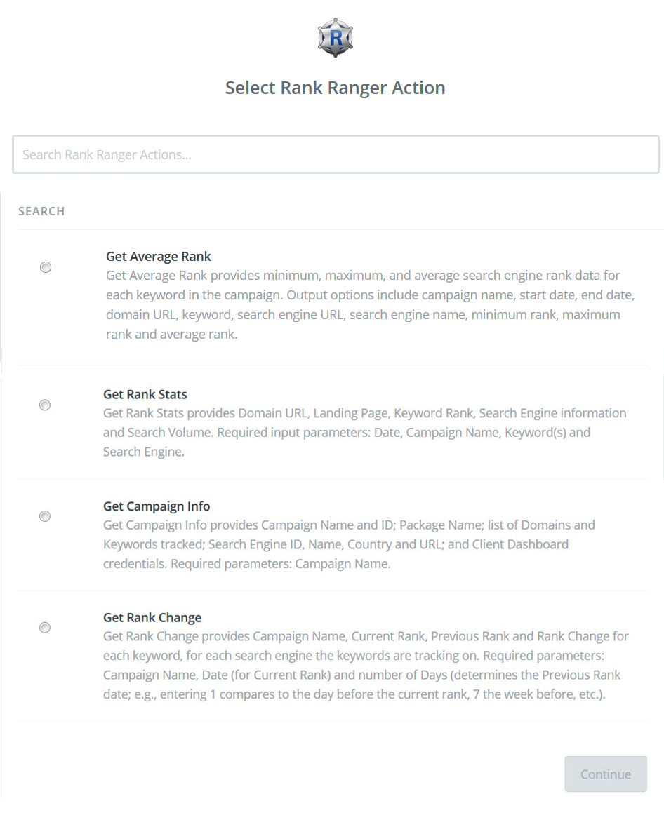 Rank Ranger Zapier Integration | Rank Ranger