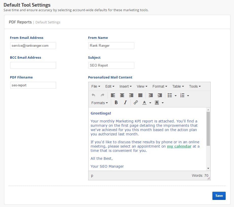 Setting Up White Label PDF Reports | Rank Ranger