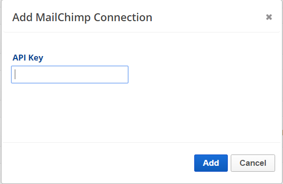 Add MailChimp API key