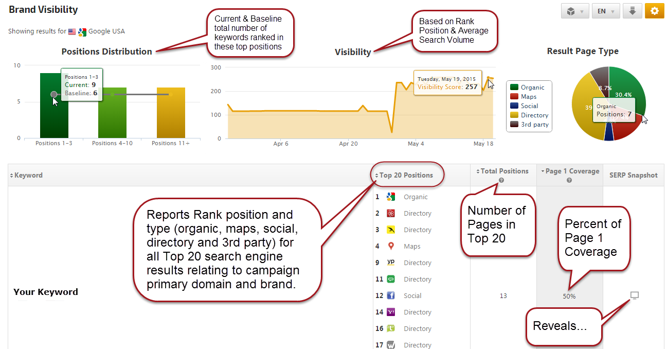 Brand Visibility Report with SERP Snapshot