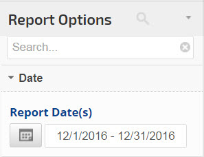select a report date