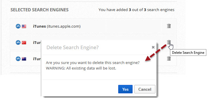 Delete Search Engine