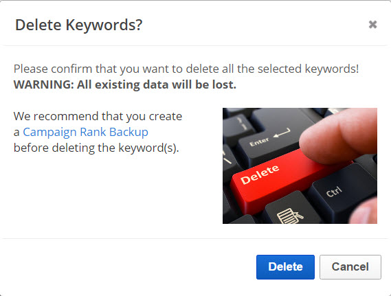 Delete Keywords