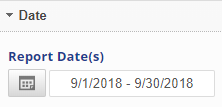 select a date range