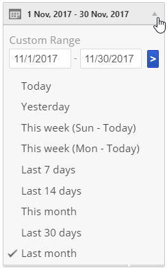 Google Analytics date selection