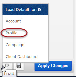 Profile Default settings