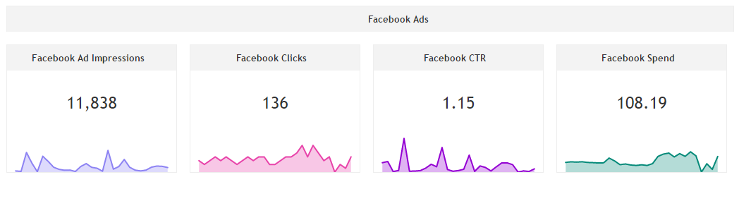 Facebook Ads Performance widgets