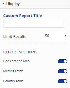 Audience Geo Location General Settings