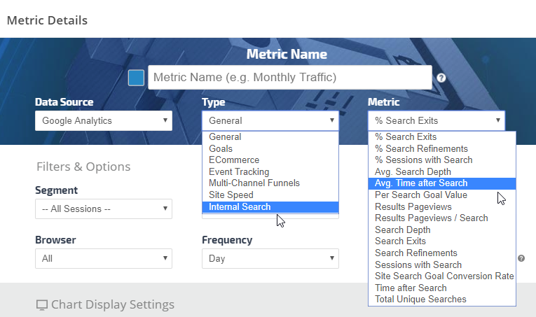 google analytics internal site search