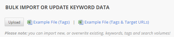 Bulk Import Suggested Keywords