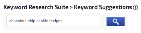 Enter and Search for Keyword Suggestions