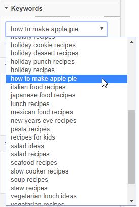 select 1 keyword