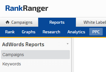 PPC Reports, AdWords Campaigns and AdWords Keywords
