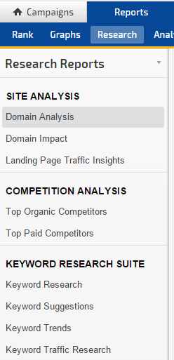 Rank and Keyword Research Reports