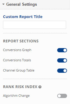 select report sections
