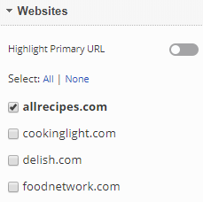 select the domains you want to view in the report