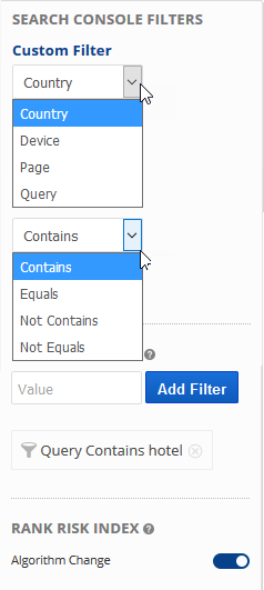 custom filter options