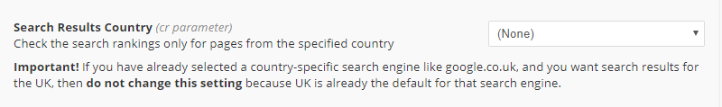 Search Results country