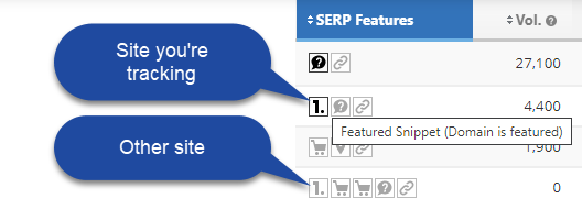 serp feature icons
