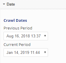 select crawl dates