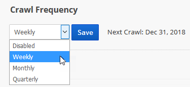 crawl frequency