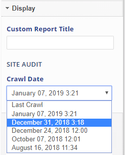 select a crawl date