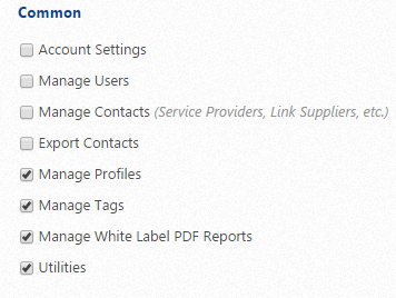 Select user permissions