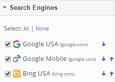 select search engines