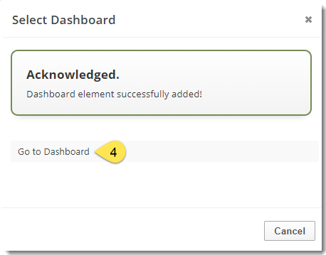 report successfully added to web dashboard