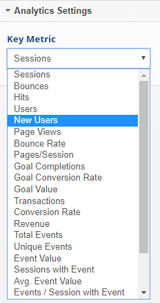 widget analytics settings