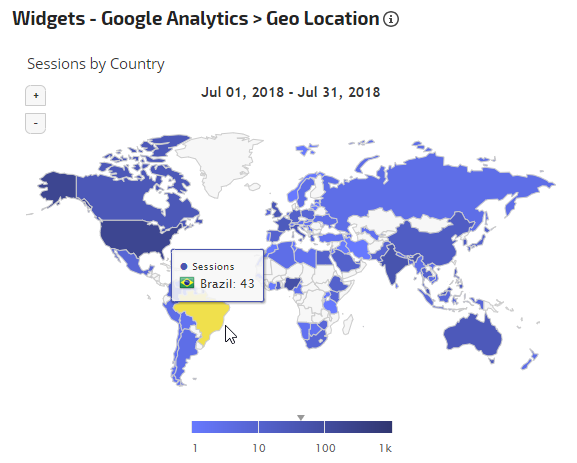 Google Analytics Geo Location Widget