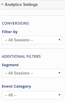 widget analytics settings