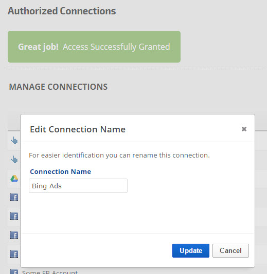 Edit Connection Name