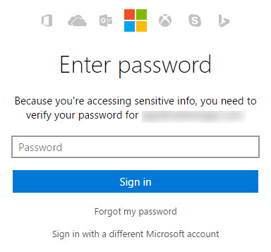 Confirm Your Bing Ads Password