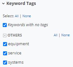 keyword tags