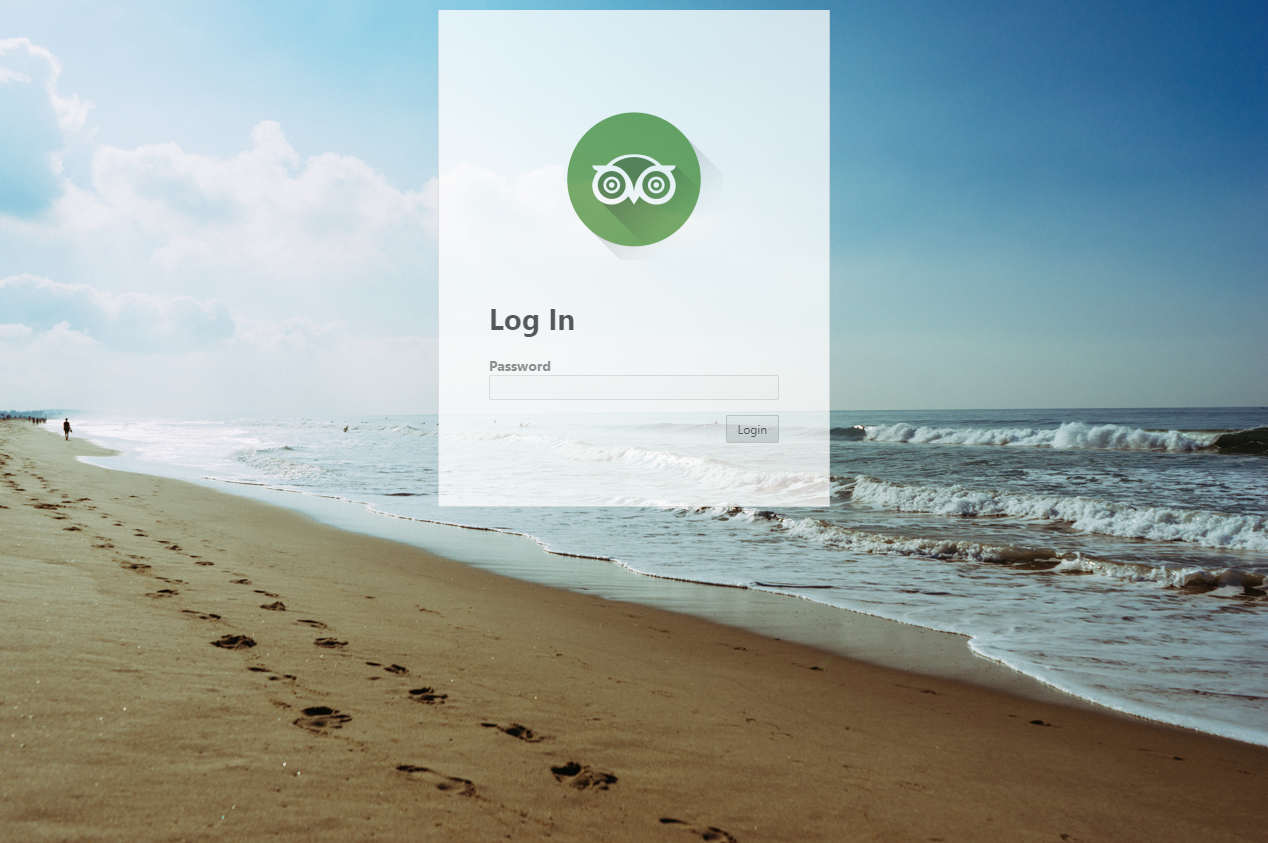 login screen example