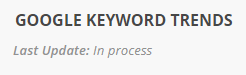 keyword trends in process