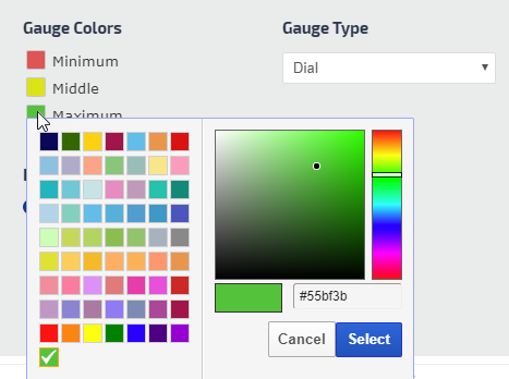 gauge color settings
