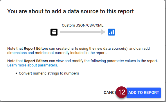 add data source to report