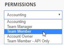 User permissions type