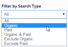 Select the Search Type