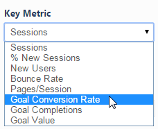 Select an Analytics Key Metric
