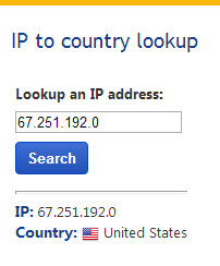 IP Country Lookup