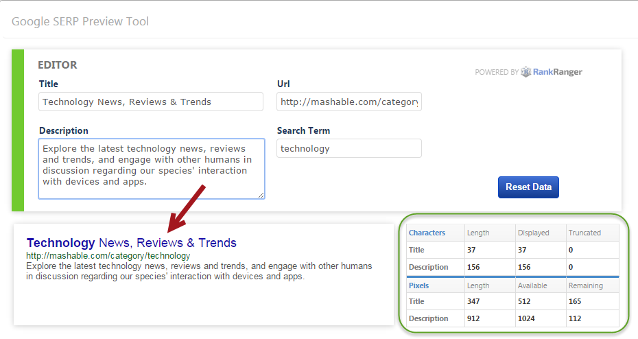 Use SERP Preview Tool Editor to Improve page SEO