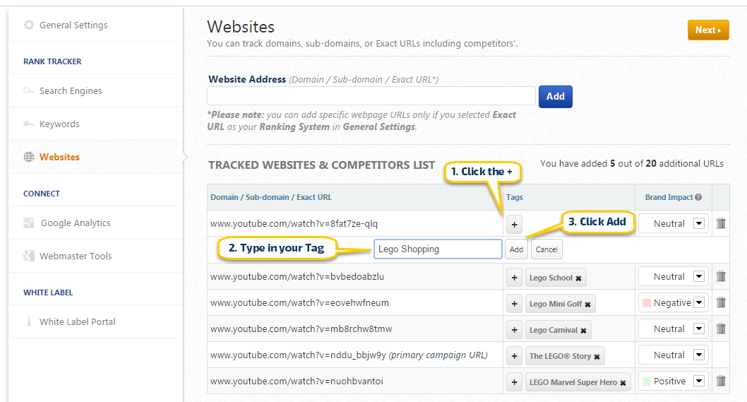 Add URL Tags