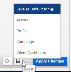 Save Report Default