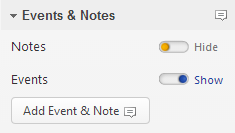 add event or note