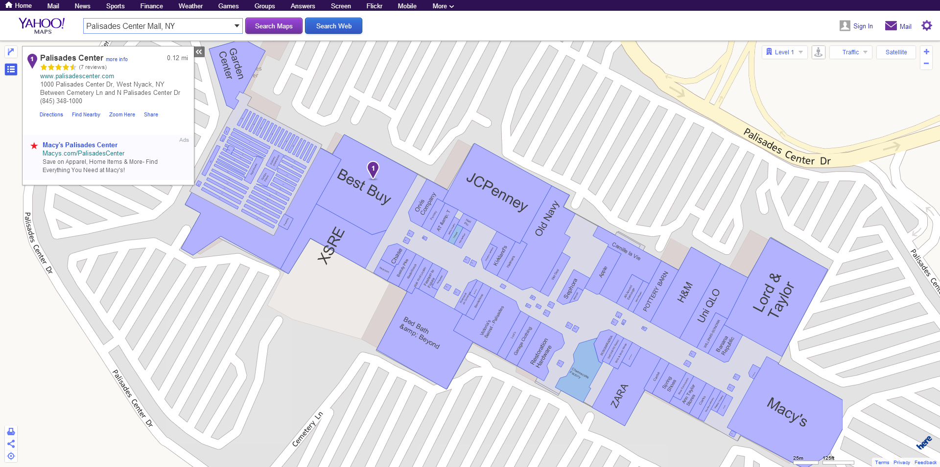 will you be using yahoo maps indoors. yahoo maps goes indoors